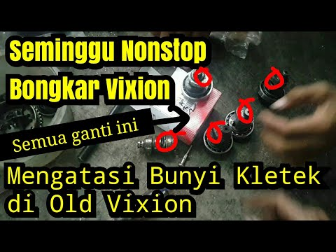 Penyebab Bunyi kasar di Mesin Vixion   Bongkar Head cylinder   Ganti noken As