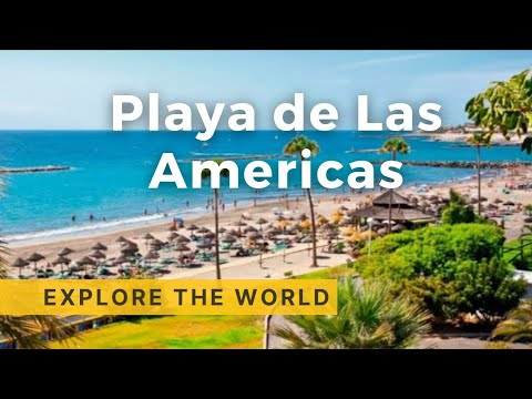 Walking in Tenerife 4K, Playa De Las Americas - Canary Islands