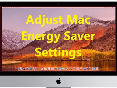 How to Adjust Energy Saver Settings for Mac OS X