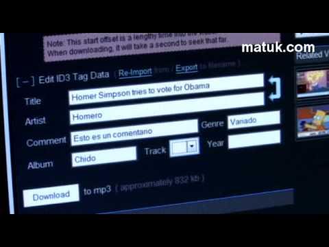 Descarga el audio en mp3 de los videos de Youtube