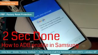 Samsung J310F  FRP Reset By Miracle ADB mode | How To Enable ADB | FRP Reset in 2 Sec |