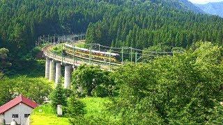 〔4K UHD|cc〕JR東日本・上越線:越後中里~土樽駅間、485系改6B/快速『快速 やまどりループ号』走行シーン。《9724M》