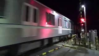 名鉄特急パノラマスーパー&EF65 原色牽引 9866レ 東京メトロ日比谷線 13000形甲種輸送