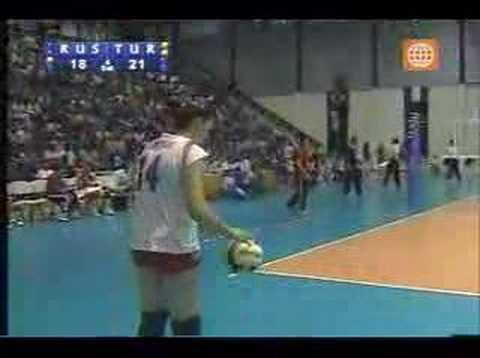 MUNDIAL MENORES VOLEIBOL 2007 semifinal  RUSIA VS TURQUIA