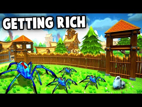 SPIDERS vs CITY DEFENSES!  Getting Rich in Shoppe Keep 2 Multiplayer Gameplay