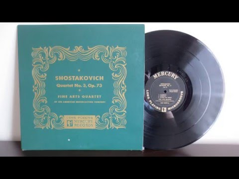 The Fine Arts Quartet, Dmitri Shostakovich   Quartet No 3 Op 73