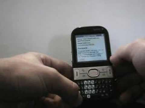 Palm Centro versamail email setup