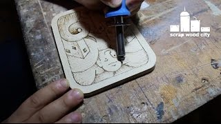 Wood Burning ( Pyrography ) Drawing