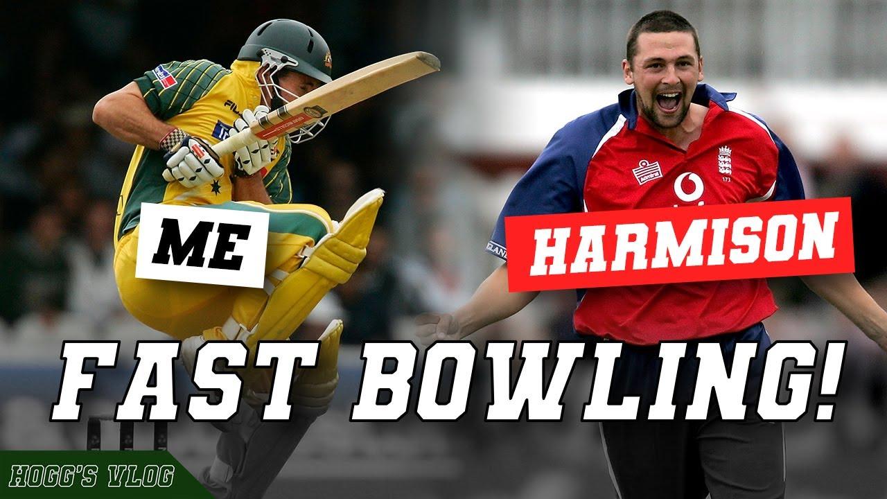World's MOST DANGEROUS fast bowler?   ft. Steve HARMISON   #HoggsVlog with Brad HOGG