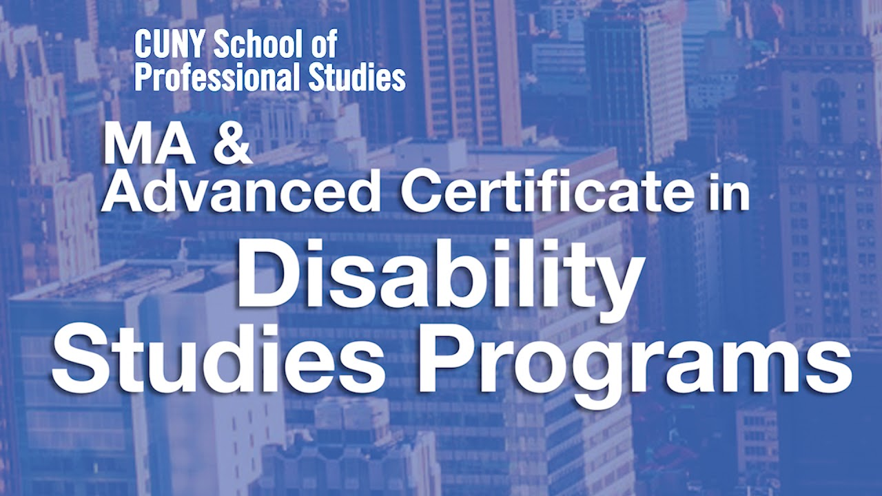 Information Session Ma And Advanced Certificate In Disability