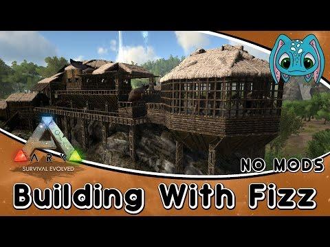ARK:Survival Evolved Building w/ Fizz :: Swamp Base Build (No Mods)
