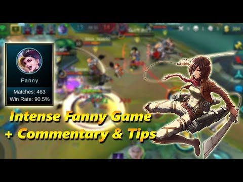 FANNY INTENSE GAMEPLAY + COMMENTARY - TIPS & TRICKS - Mobile Legends