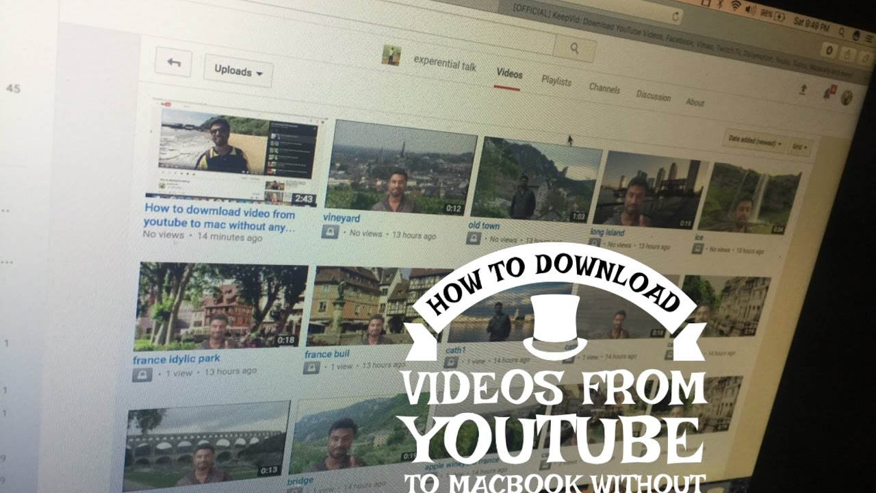 how to download youtube video on mac without software