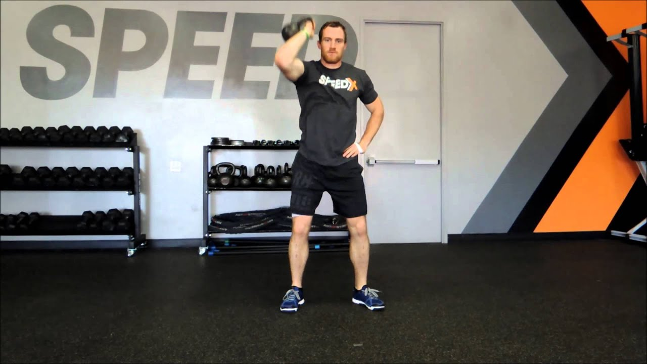 Kettlebell squat Thruster  Tutorial
