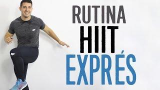 Rutina de ejercicios para adelgazar: CARDIO HIIT EXPRÉS - 15 minutos