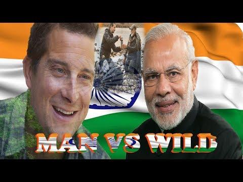 MAN VS WILD /Man vs wild narendra modi: PHOTOSHOP TUTORIAL #anyonecandesign thumbnail