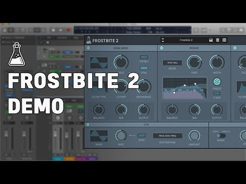 Frostbite 2 Synth and Drums Demo - Spectral Freeze Plugin