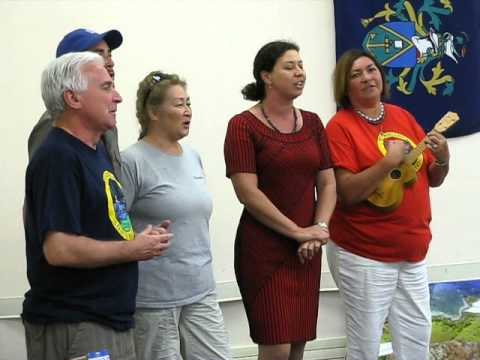 Pitcairn Islanders singing farewell at Bounty-Pitcairn Conference 2012, #3