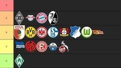 ALLE Bundesliga-Vereine Tierliste !