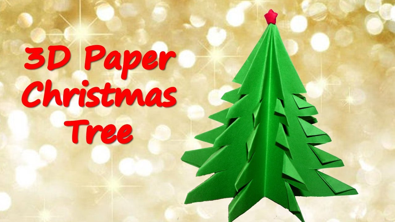How to make 3D Paper Christmas Tree Origami Christmas Tree