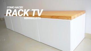 MUEBLE RACK DE TV MINIMALISTA - PROYECTO MUEBLE Ft LA FARAONA