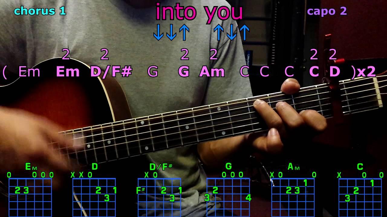into you ariana grande guitar chords