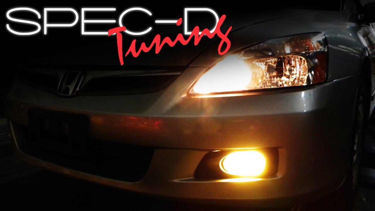 specdtuning installation video 2006 2007 honda accord sedan fog lights youtube [ 1280 x 720 Pixel ]