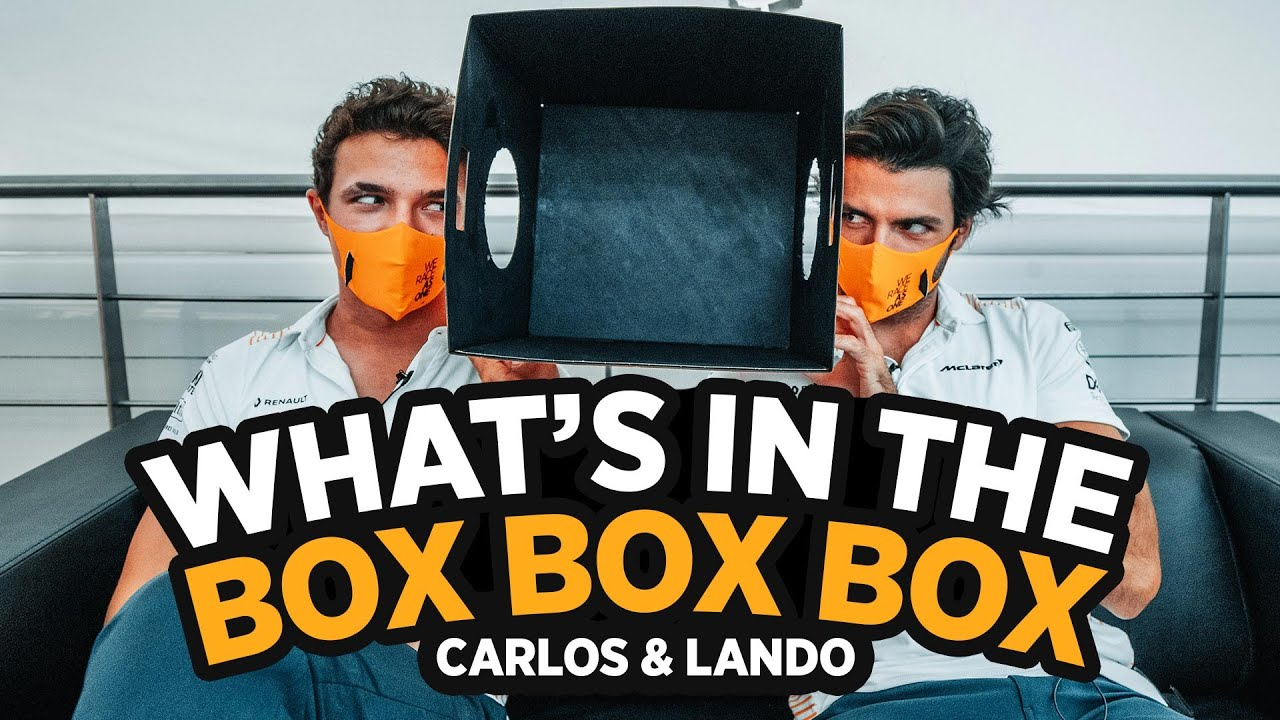 Carlos Sainz and Lando Norris play 'What's in the Box Box Box'? - Motor Informed