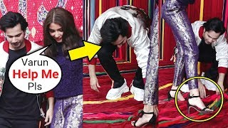Varun Dhawan Sweet Gesture  For Anushka Sharma At Sui Dhaga Trailer Launch