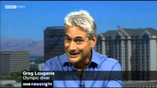 Jeremy Paxman with Greg Louganis on Diver Tom Daley coming out