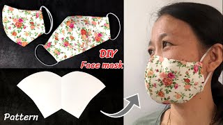 DIY Face Mask with Nose Wire New Pattern