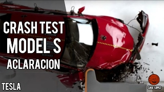 Aclaraciones CRASH TEST Tesla Model S 2017: small overlap