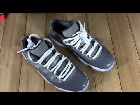 07bee1ebe6f Review of Air Jordan 11 Low Cool Grey -- Will - YouTube