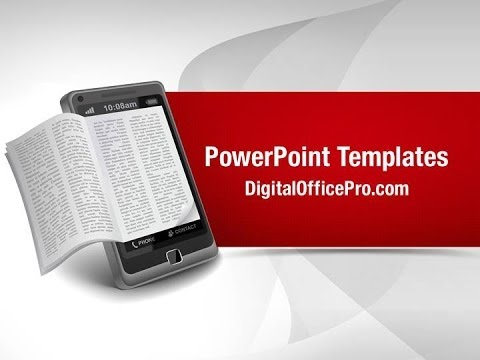 Ebook On Smartphone Powerpoint Template Backgrounds
