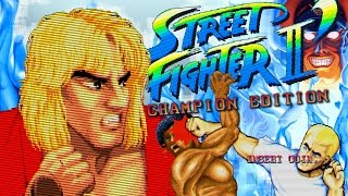Street Fighter II': Champion Edition Arcade **KEN** Full Playthrough in 1080p thumbnail