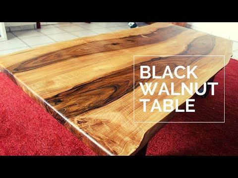 Large Living Room Table - Live Edge Black Walnut - DIY