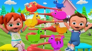 Learning Animals Names for Children with Little Babies Fun Play Color Animals Balance ToySet 3D Kids