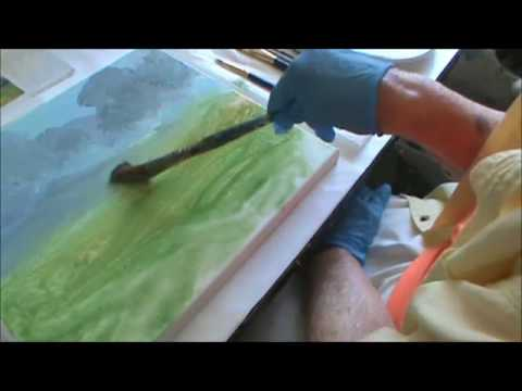 ACRYLIC LANDSCAPE PAINTING by MILLIE GIFT SMITH PART  1