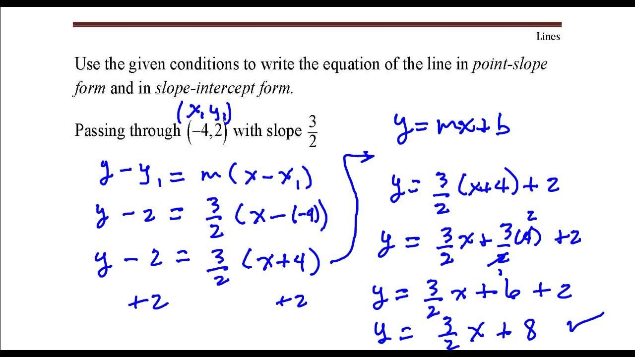 Write The Equation Of The Line That Passes Through The Point 42