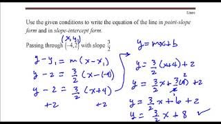 write the equation of the line that passes through the point 4 2 with slope 3 2