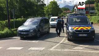French police checking cars near Spain border