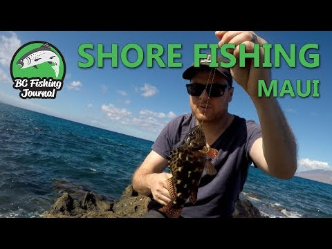 Shore Fishing In Maui - Catch And Cook