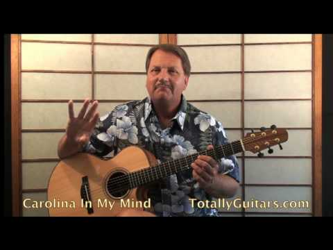 James Taylor Carolina In My Mind Guitar Lesson Youtube