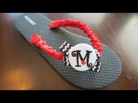 Flip Flops Decorating - How To Decorate Sandals for Cheerleaders