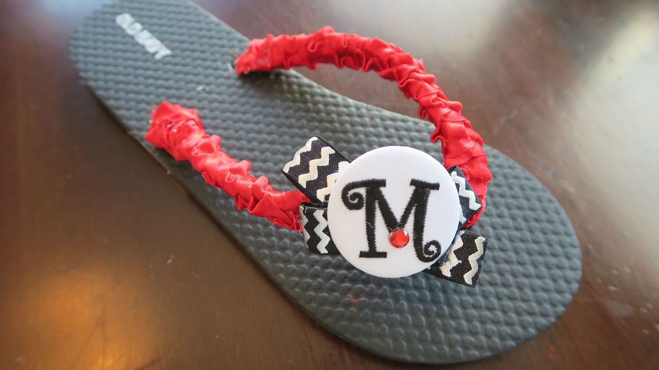5da5b8a50 Flip Flops Decorating - How To Decorate Sandals for Cheerleaders ...