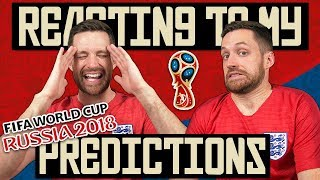 REACTING TO MY WORLD CUP PREDICTIONS!