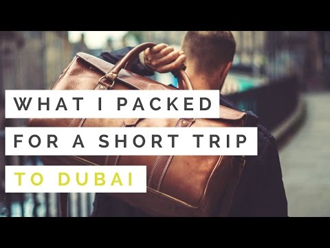 What I Packed For A Short Trip To Dubai - Speaking At Fashion Forward Dubai