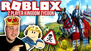 KING VERCINGER AND QUEEN TORTENSKJOLD:: 2 Player Kingdom Tycoon-PART 2-English Roblox