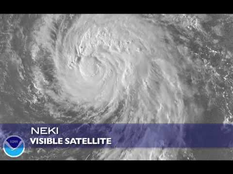 Hurricane Neki near Hawaii - 10.20.09