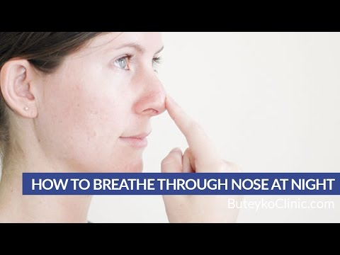 How to Breathe Through Nose at Night
